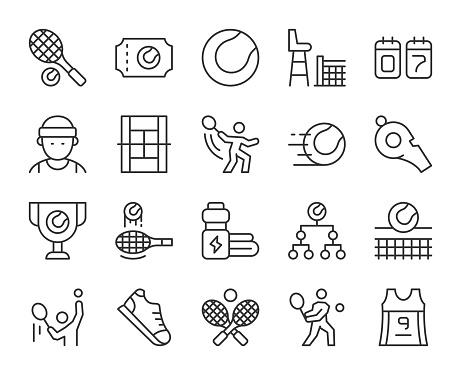Tennis - Light Line Icons