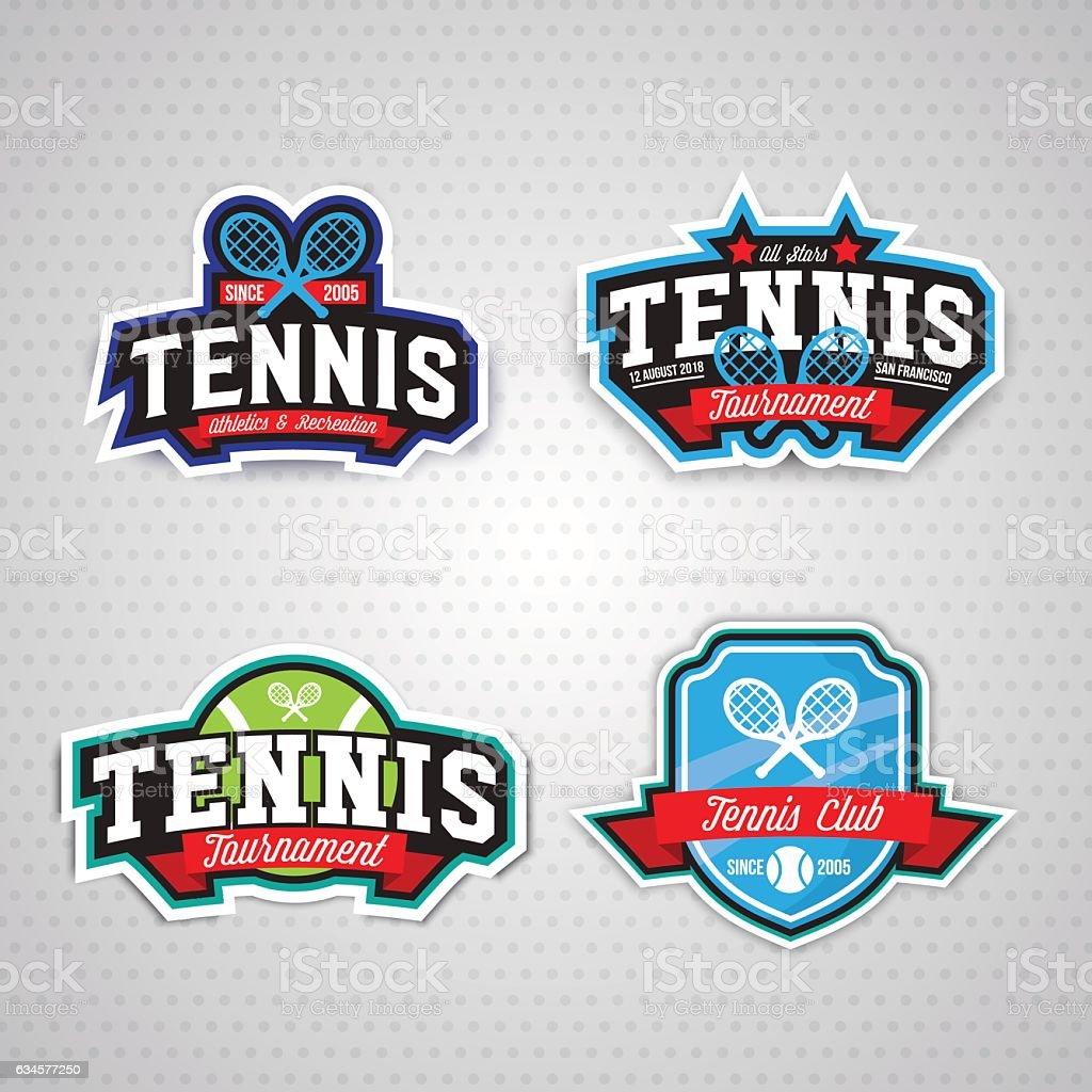 Vetores De Tennis Logo Badge Design Template E Mais Imagens De Bola Istock