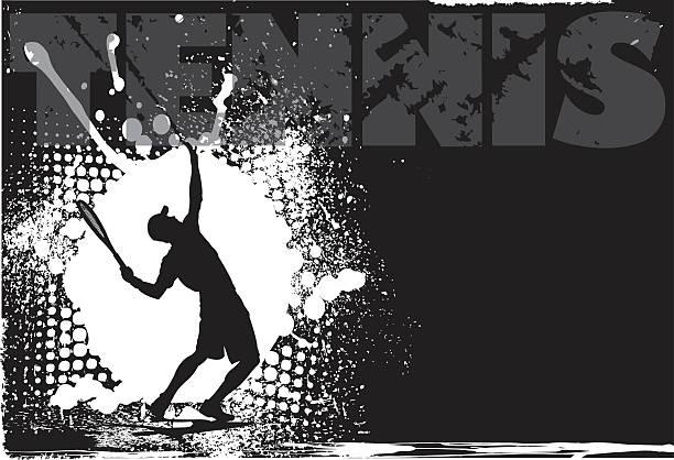 tennis männer grunge hintergrund - wimbledon stock-grafiken, -clipart, -cartoons und -symbole