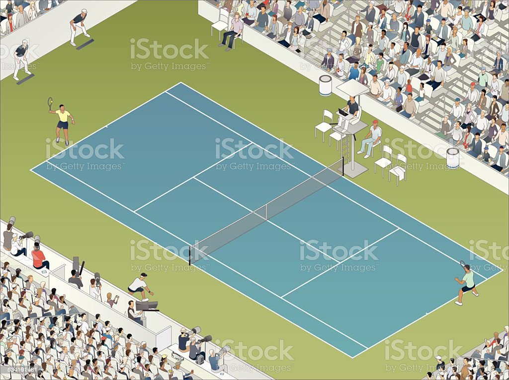 Tennis Match Illustration vector art illustration