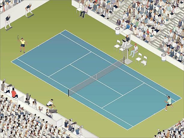 tennis match illustration - tennis stock illustrations, clip art, cartoons, & icons