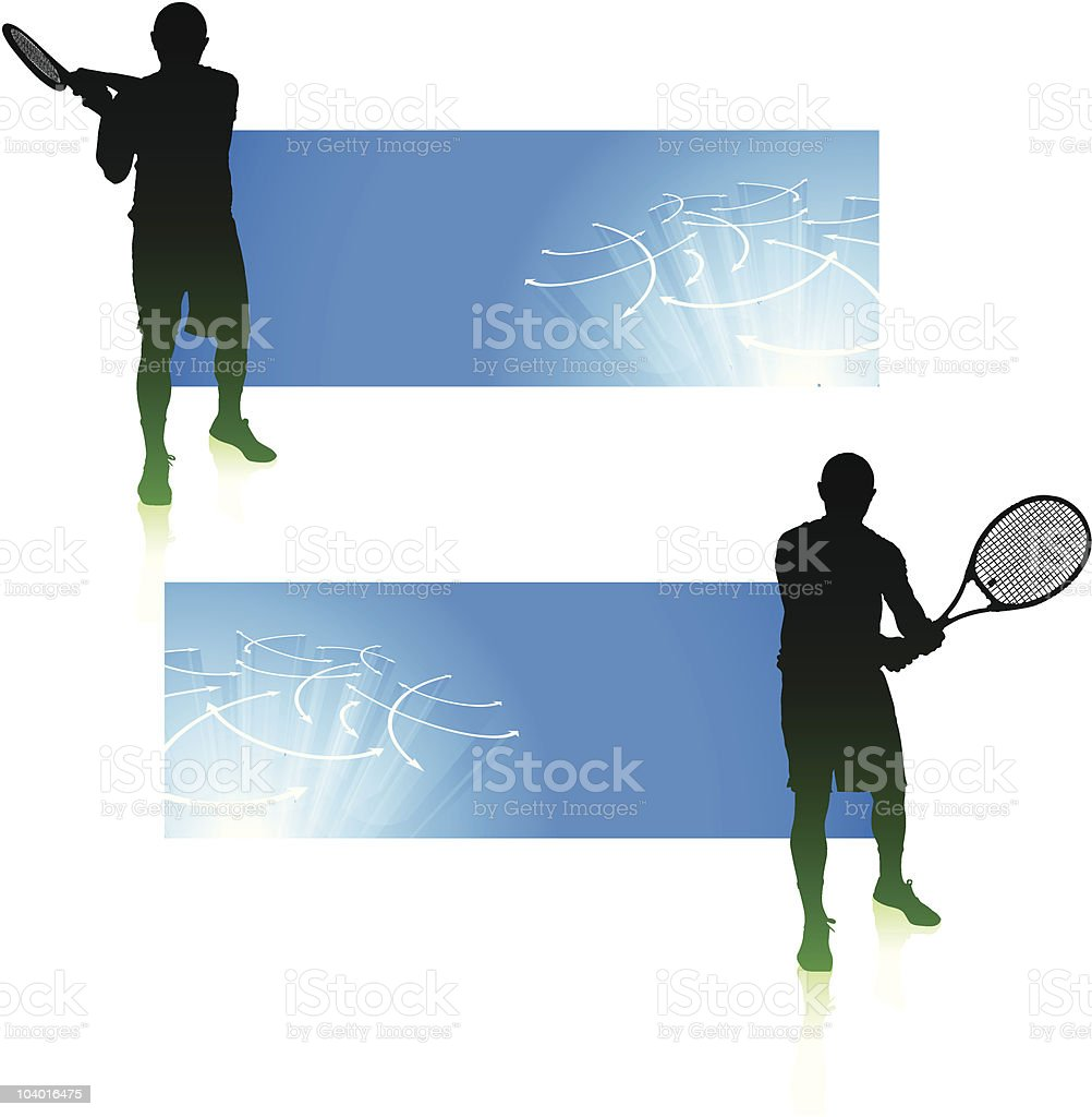 Tennis Match on Blue Background royalty-free tennis match on blue background stock vector art & more images of abstract
