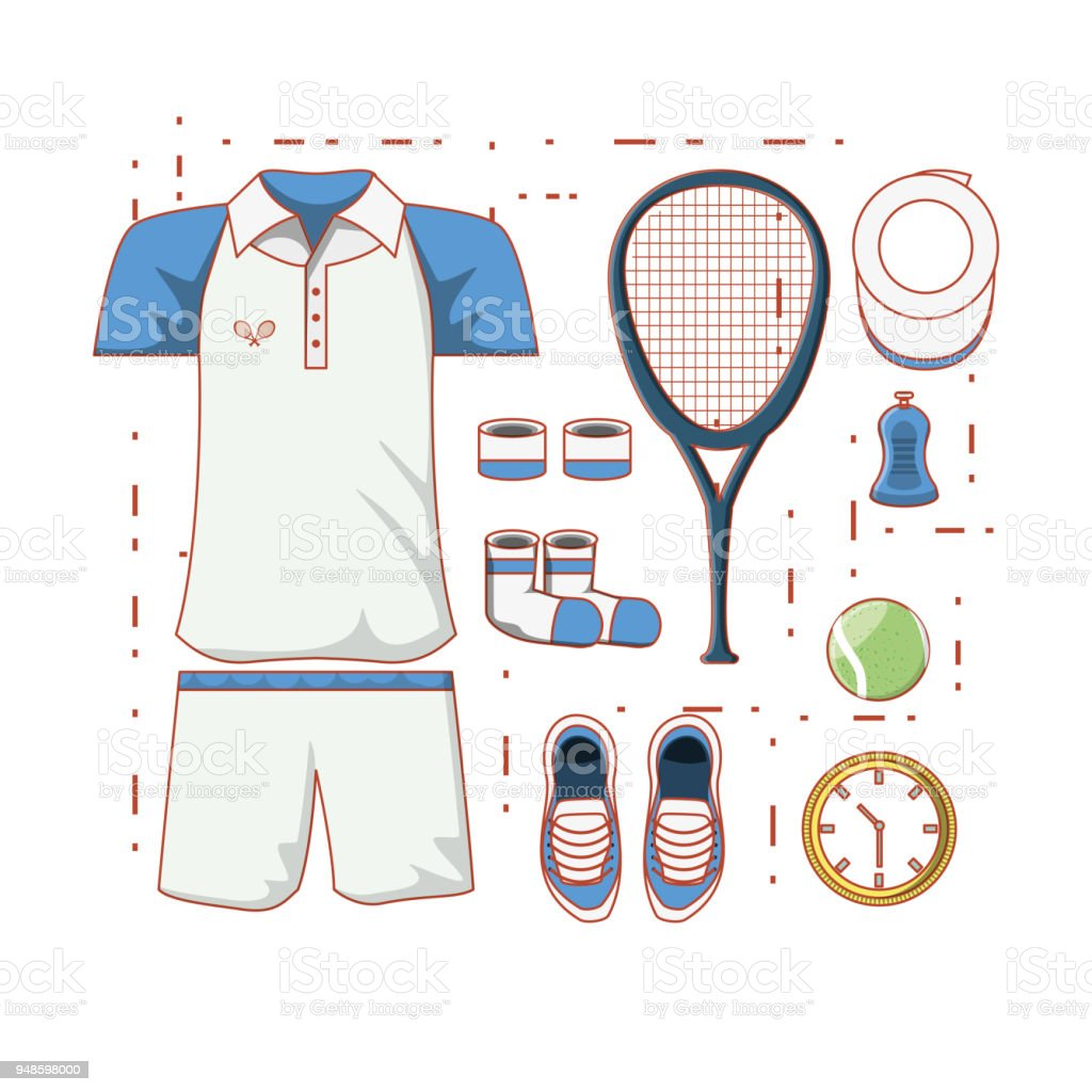 tennis men clothing icon vector art illustration