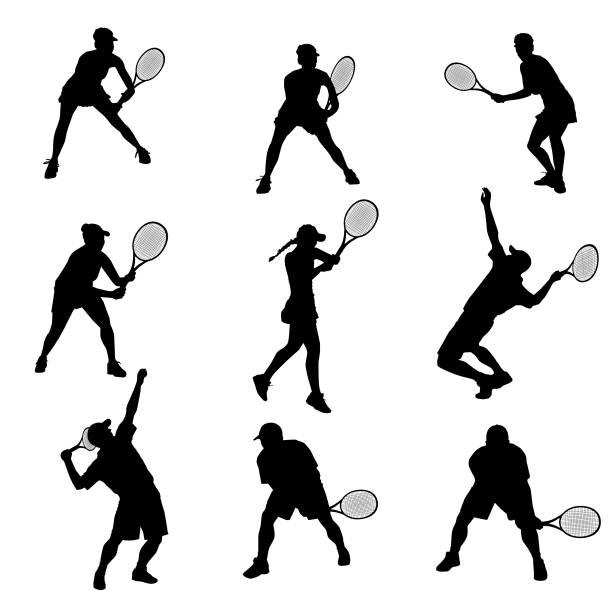 stockillustraties, clipart, cartoons en iconen met tennis-overzicht - tennis