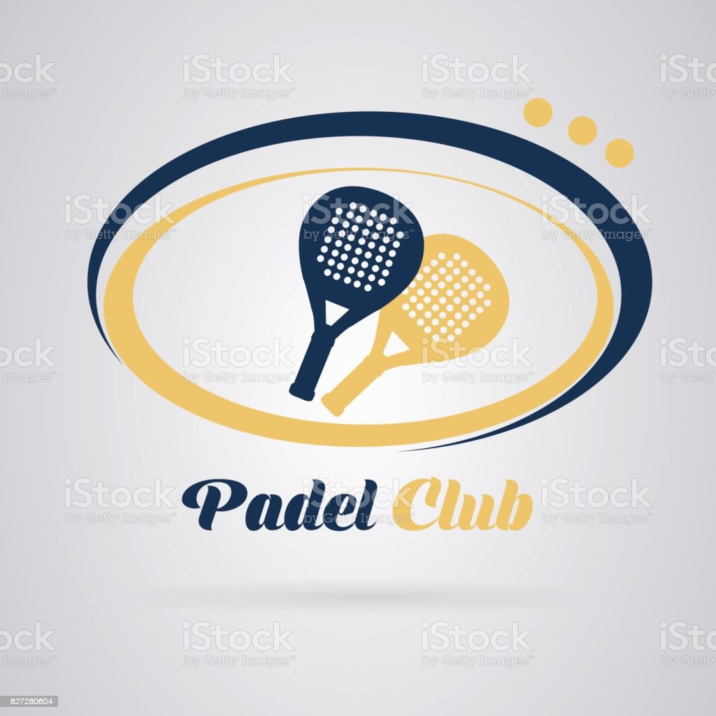 Logo padel tennis vector art illustration
