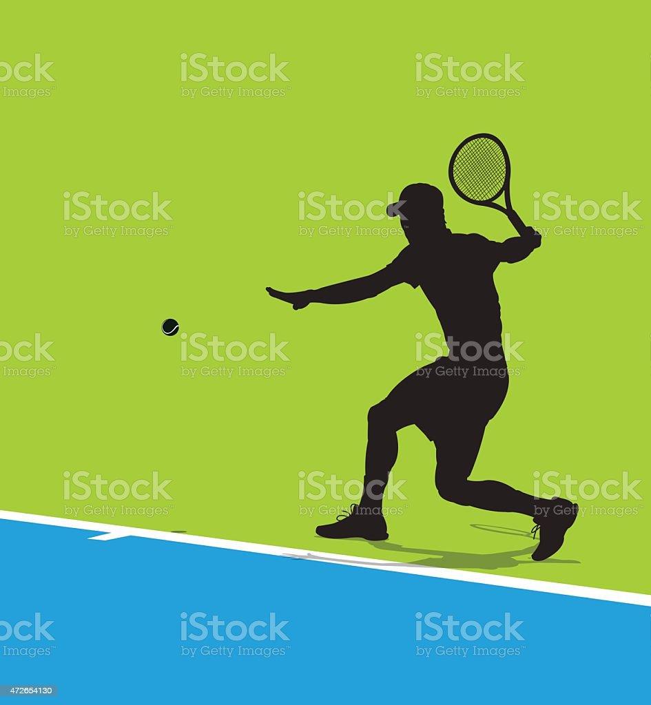 Tennis Player Background vector art illustration