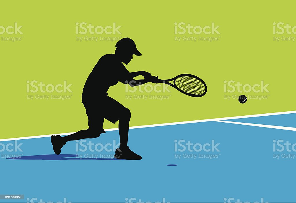 Tennis Player Background - Young Male royalty-free stock vector art