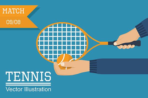 tennis player holding racket, ball - wimbledon stock-grafiken, -clipart, -cartoons und -symbole