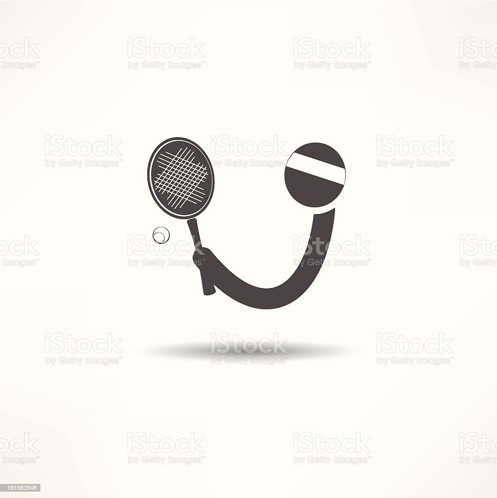 tennis player icon royalty-free stock vector art