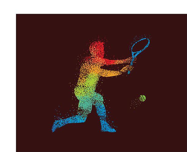 Tennis Player Illustration Star vector art illustration
