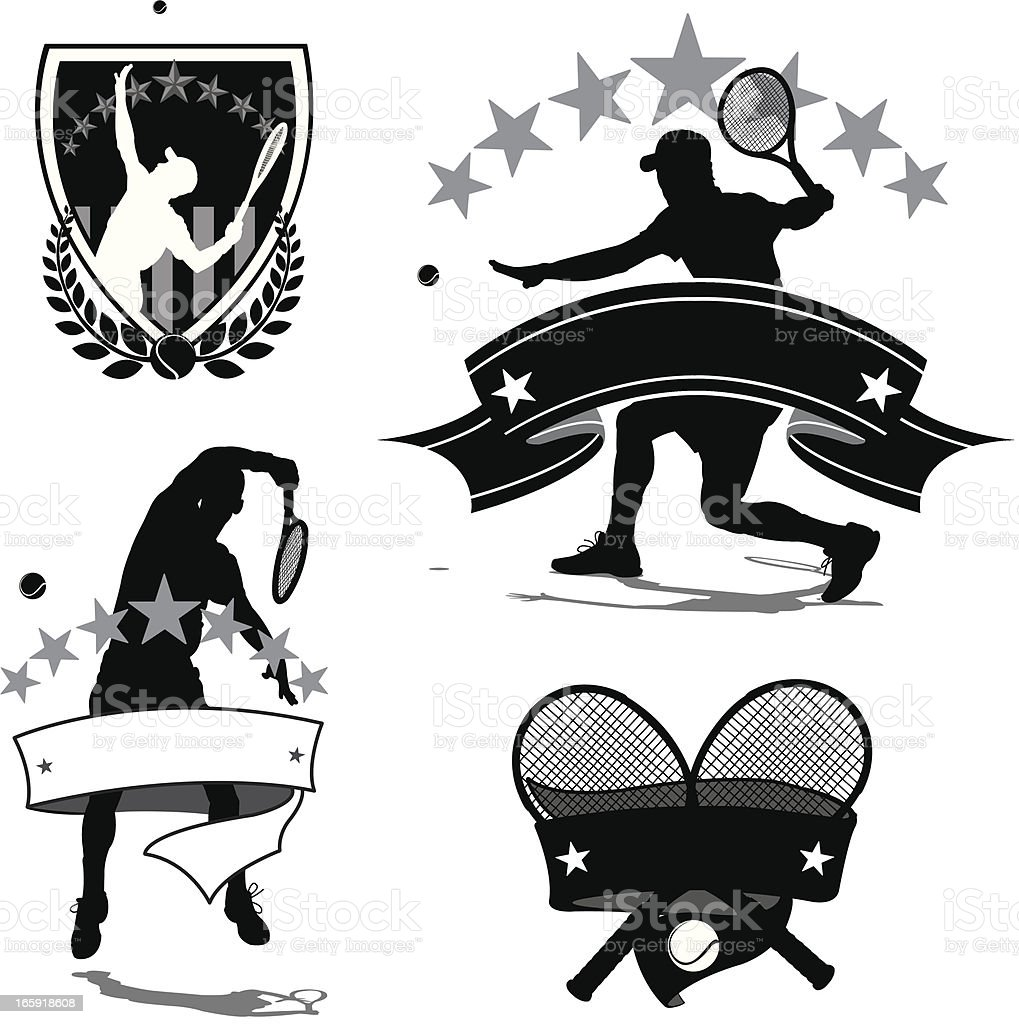 Tennis Player - Male Icon Backgrounds royalty-free stock vector art