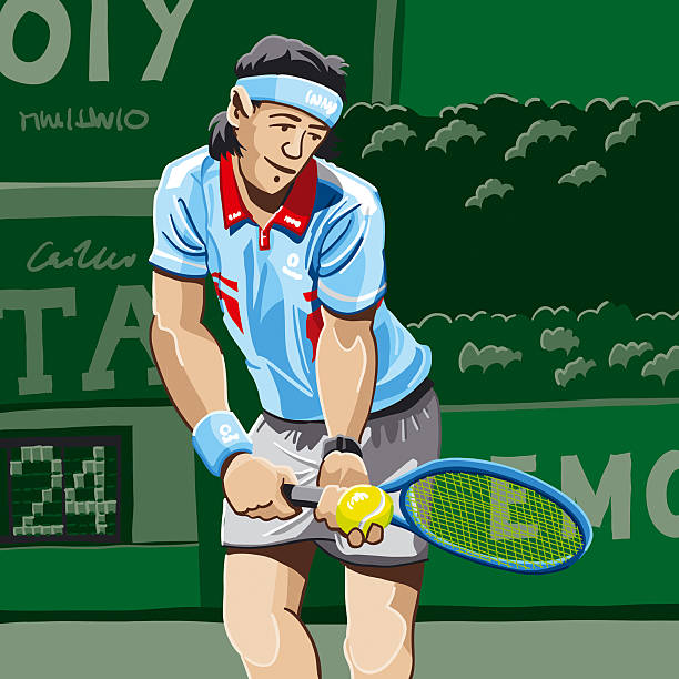 Tennis Player Serve Vector Illustration of a Tennis Player before a serve. The background is on a separate layer, so you can use the illustration on your own background. The colors in the .eps and .ai-files are ready for print (CMYK). Included files: EPS (v8), AI (CS2) and Hi-Res JPG.  Related images: [url=file_closeup.php?id=2831672][img]file_thumbview_approve.php?size=1&id=2831672[/img][/url] [url=file_closeup.php?id=2831590][img]file_thumbview_approve.php?size=1&id=2831590[/img][/url] [url=file_closeup.php?id=2831064][img]file_thumbview_approve.php?size=1&id=2831064[/img][/url]  [url=file_closeup.php?id=2831396][img]file_thumbview_approve.php?size=1&id=2831396[/img][/url] [url=file_closeup.php?id=2831248][img]file_thumbview_approve.php?size=1&id=2831248[/img][/url] [url=file_closeup.php?id=3006142][img]file_thumbview_approve.php?size=1&id=3006142[/img][/url]   [url=http://www.istockphoto.com/search/lightbox/1625789][img]http://www.fr73.de/is/lb_tennis.jpg[/img][/url] tennis stock illustrations