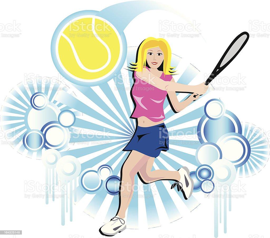 Tennis Player royalty-free stock vector art
