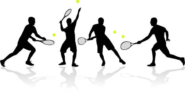 tennis player - wimbledon stock-grafiken, -clipart, -cartoons und -symbole