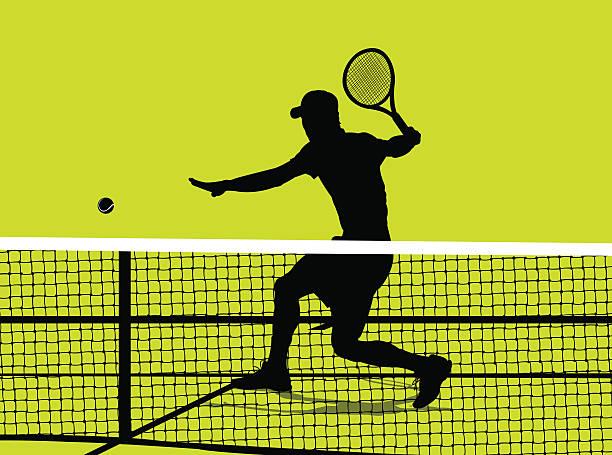 tennis-spieler-volley hintergrund - wimbledon stock-grafiken, -clipart, -cartoons und -symbole