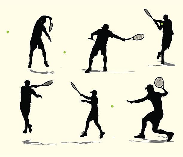 テニス選手バレーやラリー-雄 - テニス点のイラスト素材/クリップアート素材/マンガ素材/アイコン素材
