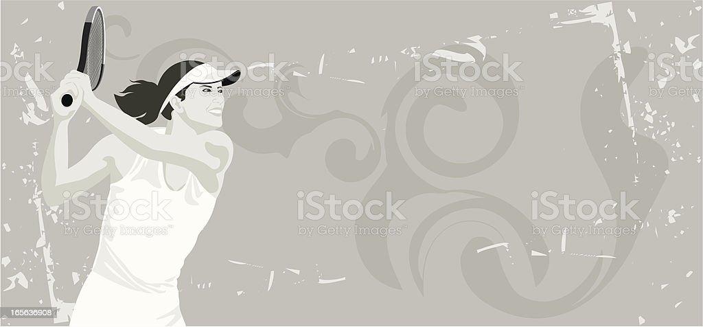 Tennis Player Women royalty-free stock vector art