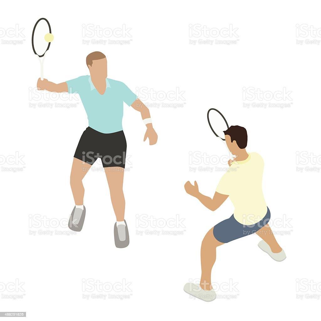 Tennis players illustration vector art illustration