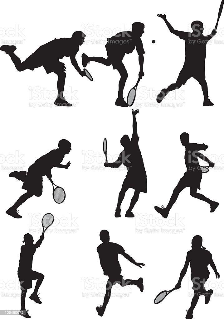 Tennis Players royalty-free stock vector art
