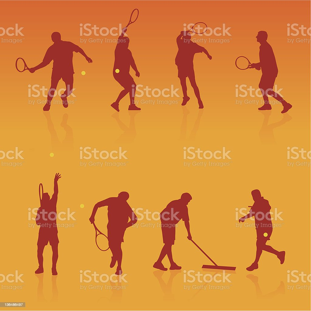 Tennis players royalty-free tennis players stock vector art & more images of activity