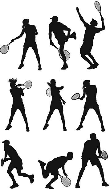 テニスプレーヤー - テニス点のイラスト素材/クリップアート素材/マンガ素材/アイコン素材