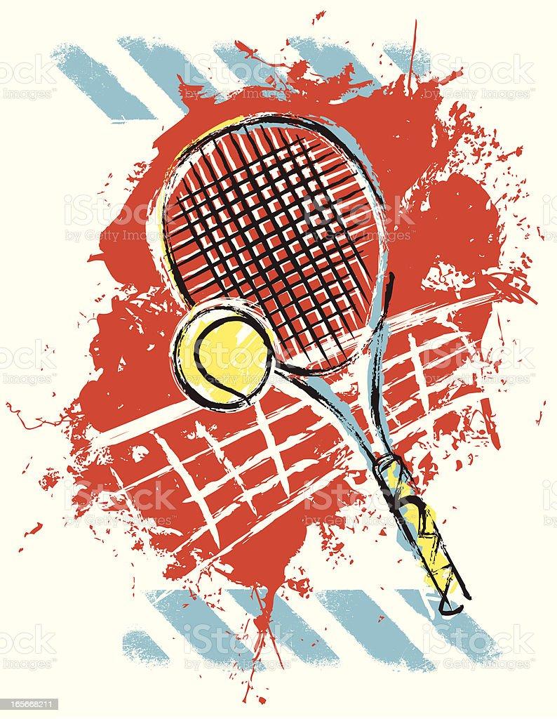 Tennis Pop Art vector art illustration