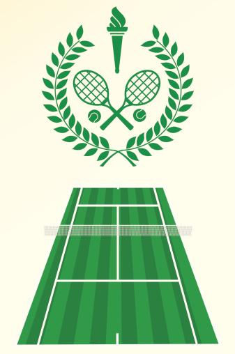 Tennis poster and emblem