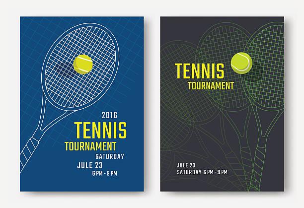 ilustraciones, imágenes clip art, dibujos animados e iconos de stock de diseño del cartel de tenis - tenis