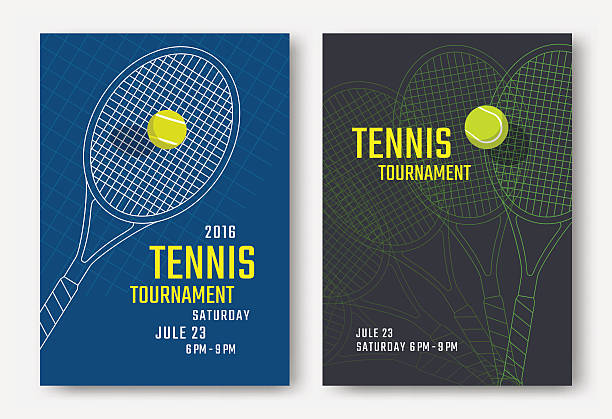 tennis poster design - tennis stock illustrations, clip art, cartoons, & icons