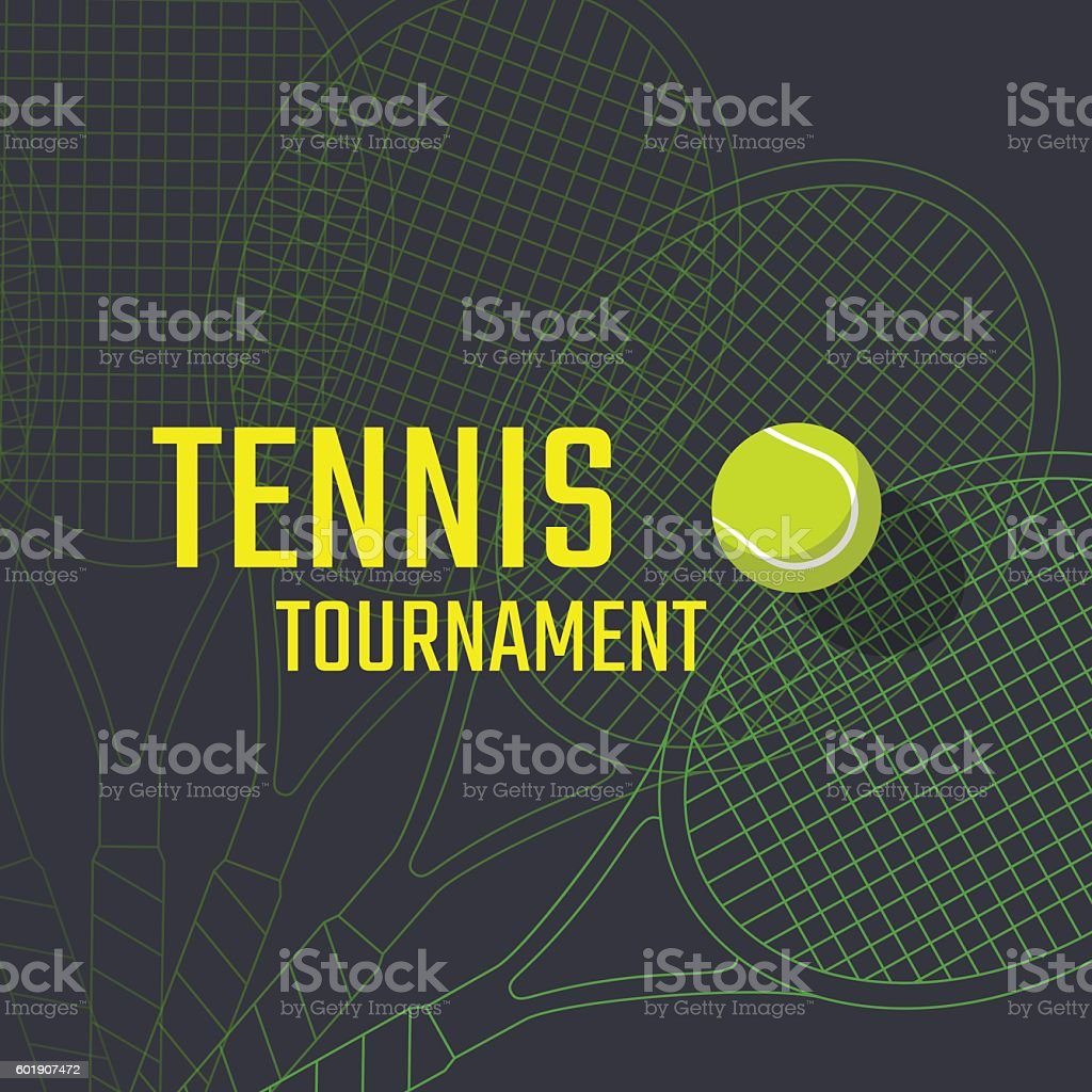 Tennis poster design - Illustration vectorielle