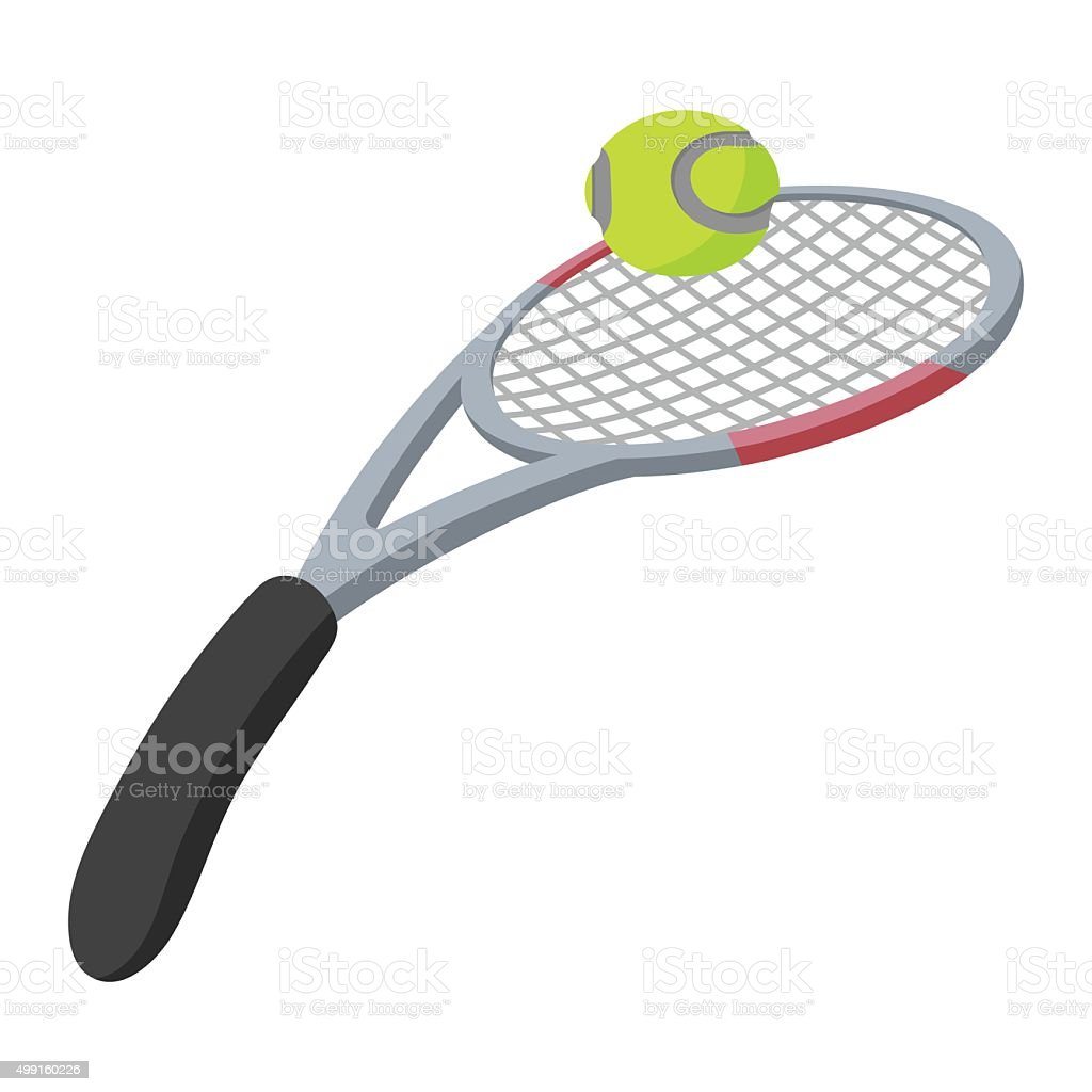 Tennis racket and ball illustration vector art illustration
