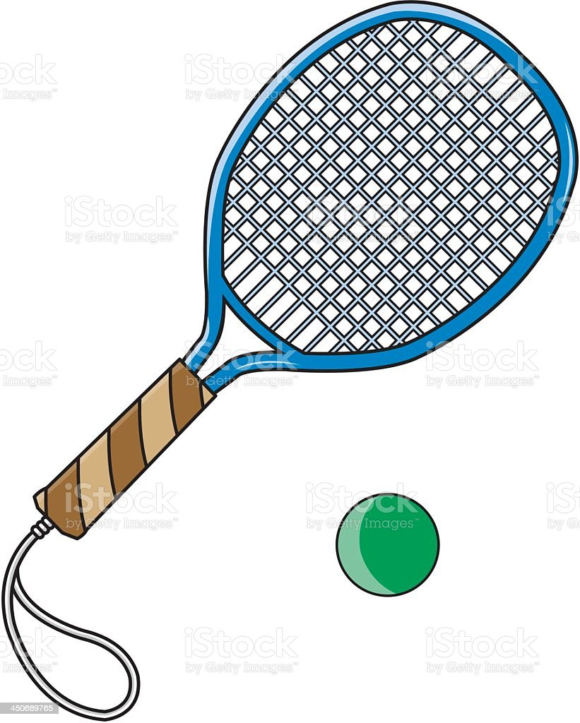 Tennis Racket and Ball royalty-free tennis racket and ball stock vector art & more images of ball