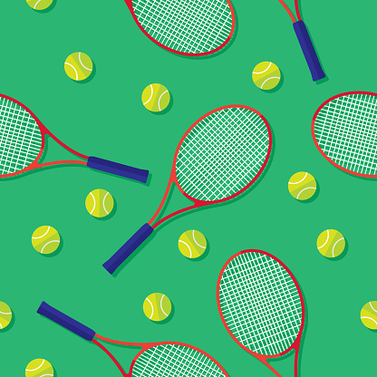 Tennis Racket and Tennis Ball Pattern