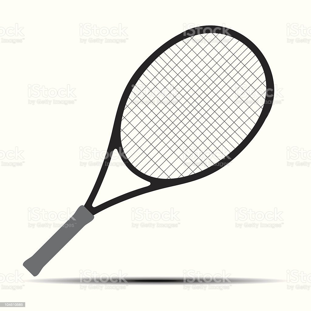 Tennis racket silhouette. Vector design element. royalty-free stock vector art