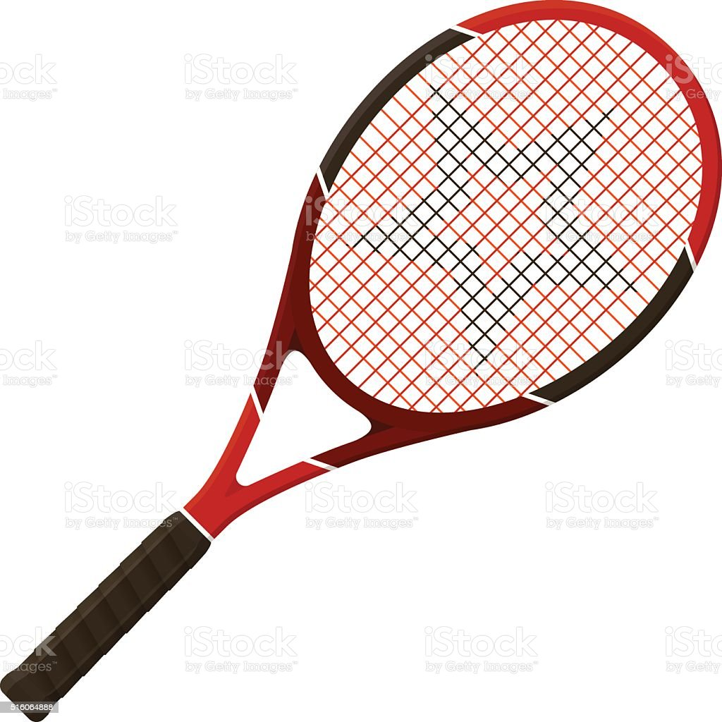 Tennis racket vector art illustration