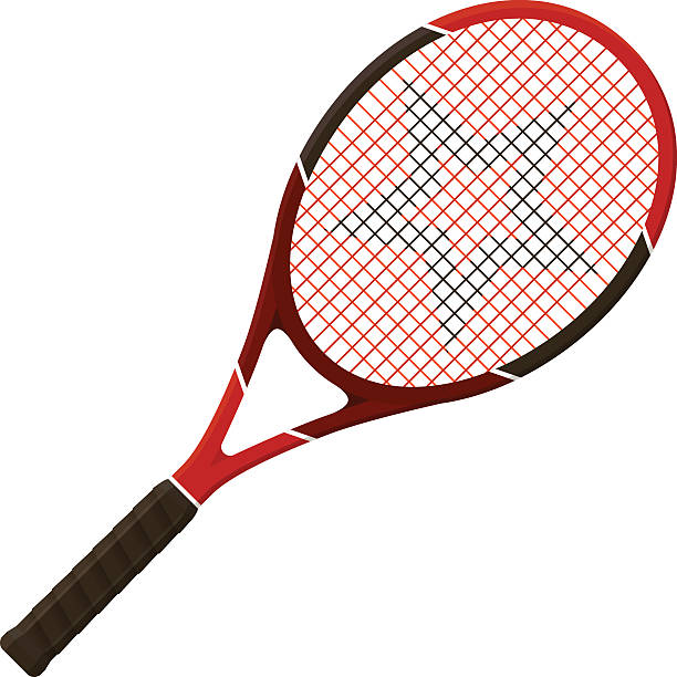 Tennis racket Vector illustration. Tennis racket isolated on white background racket stock illustrations