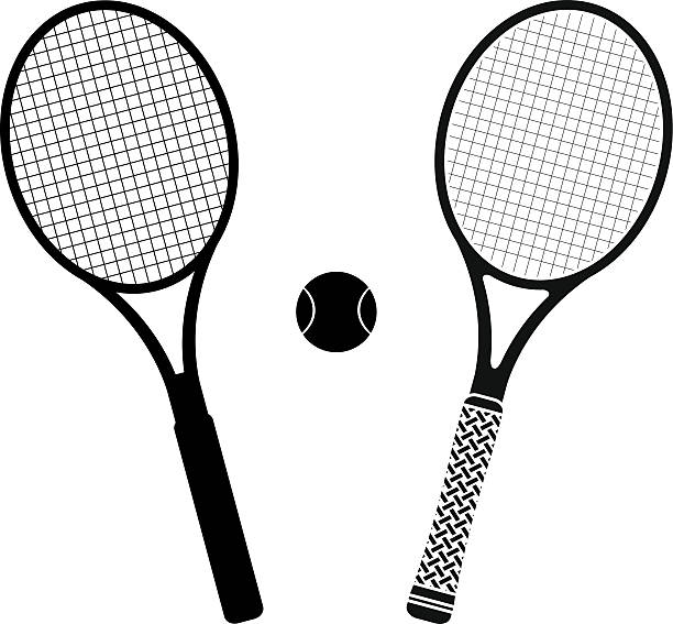 Royalty Free Tennis Racket Clip Art, Vector Images