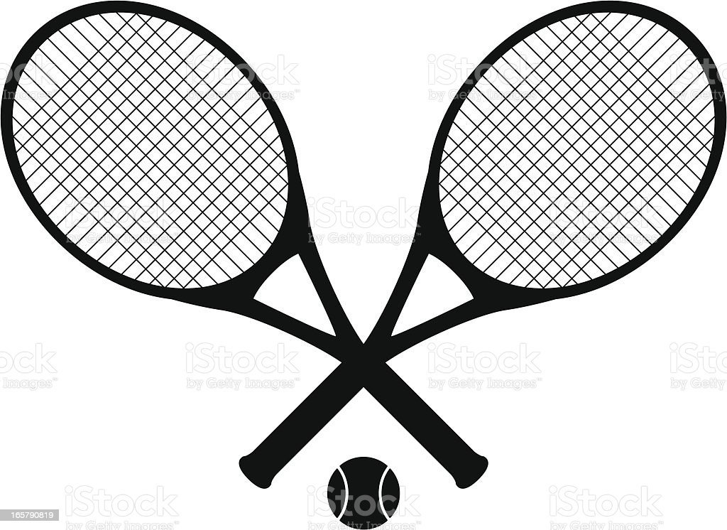 tennis rackets royalty-free stock vector art