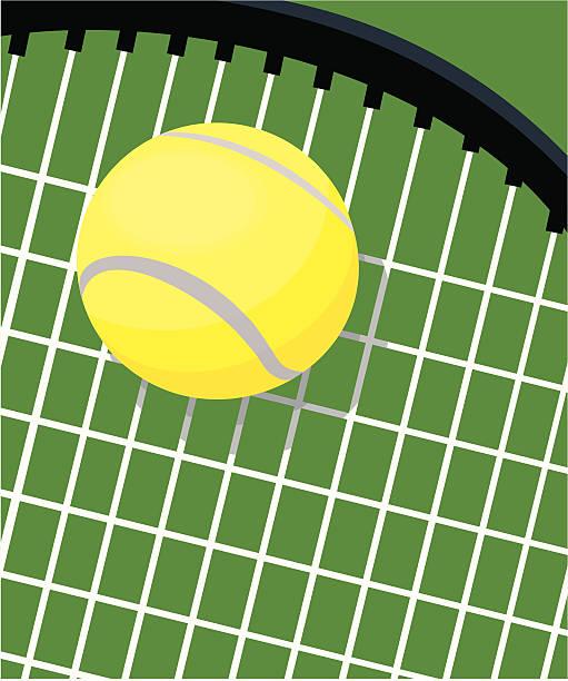 tennisschläger und ball - wimbledon stock-grafiken, -clipart, -cartoons und -symbole