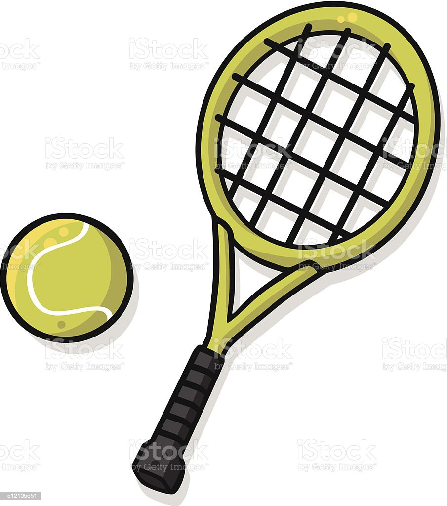 royalty free tennis racket clip art vector images illustrations rh istockphoto com tennis racket clipart black and white tennis racket clipart
