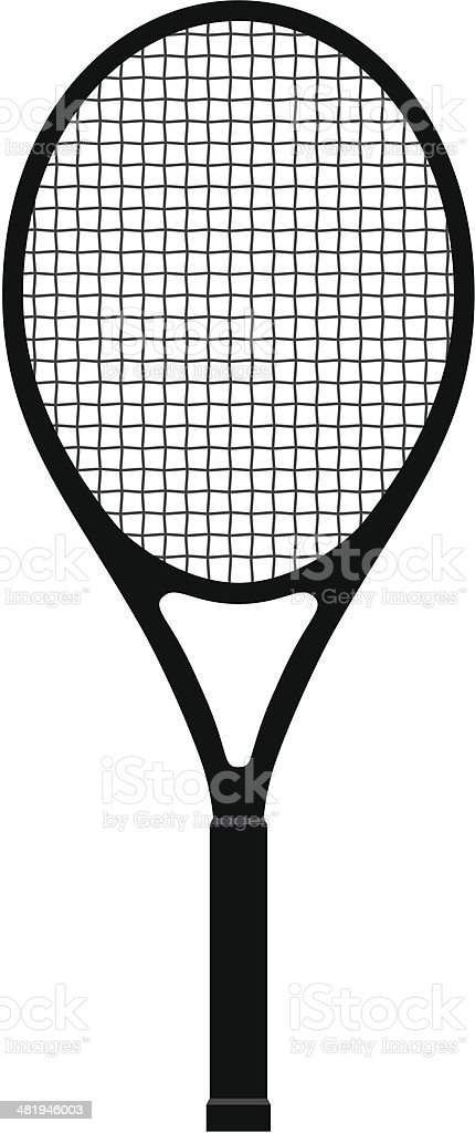 Tennis Racquet vector art illustration