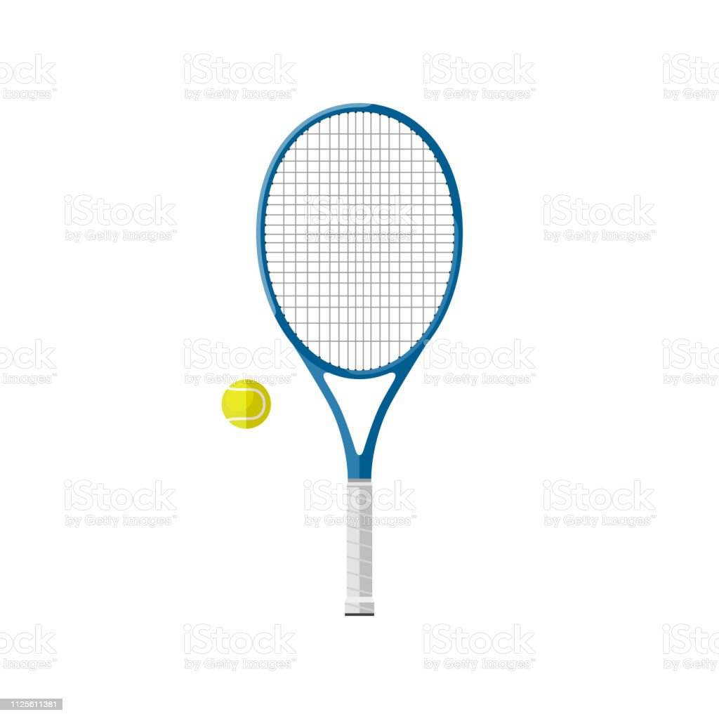 Tennis racquet with ball royalty-free tennis racquet with ball stock illustration - download image now