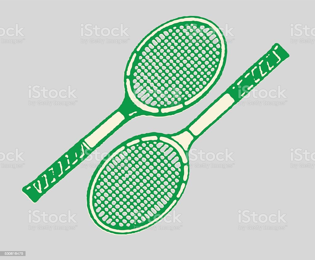 Tennis Racquets vector art illustration