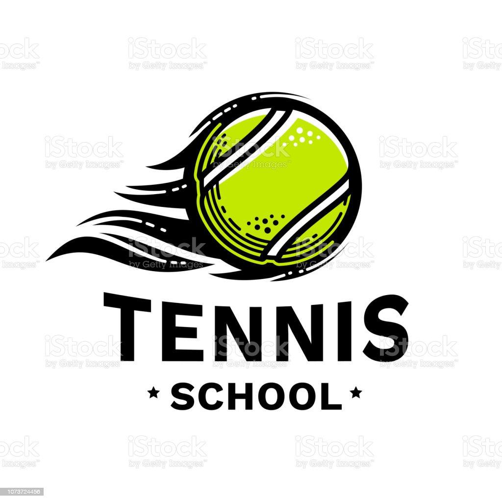 75185867a03d1 Emblème de l'école de tennis, illustration, style de ligne moderne, couleur