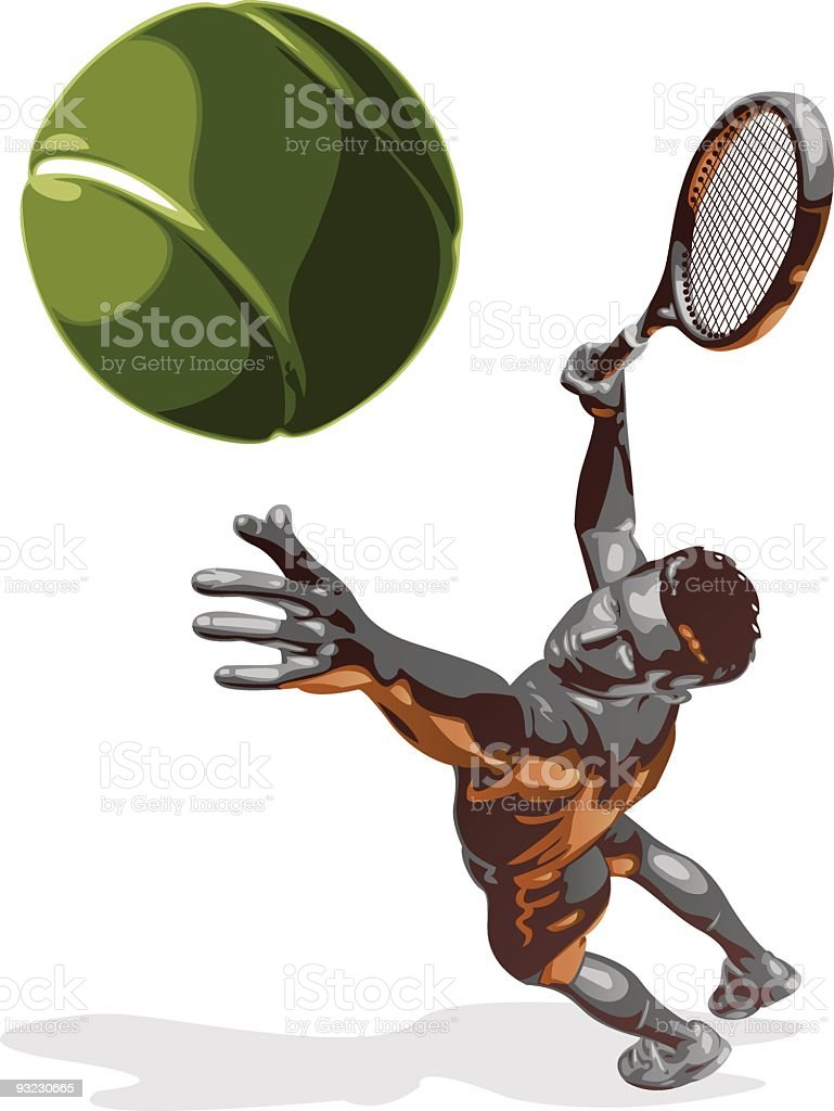 Tennis Serve royalty-free stock vector art