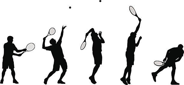 tennisserve - テニス点のイラスト素材/クリップアート素材/マンガ素材/アイコン素材