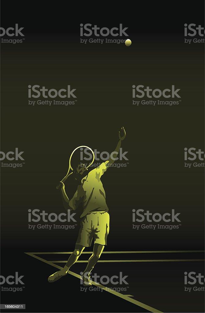 Tennis service green royalty-free stock vector art