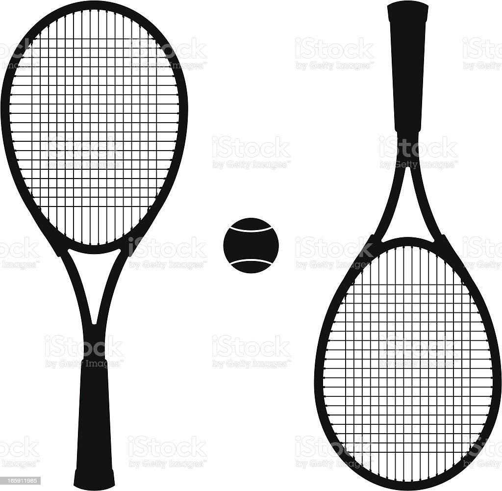 tennis set vector art illustration