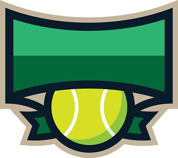 tennis-shield logo - wimbledon stock-grafiken, -clipart, -cartoons und -symbole