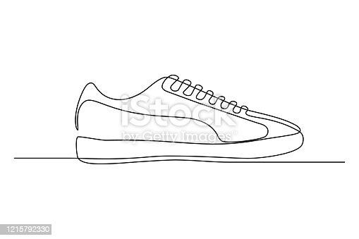 istock Tennis shoe 1215792330